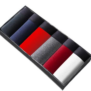 6 sztuk partia bawełniane majtki męskie bokserki męskie bielizna męska bokserki oddychające stałe kalesony wygodne spodenki seksowna bielizna L XL 2XL 3XL tanie i dobre opinie bien elevee CN (pochodzenie) Men s Shorts Boxer Underwear COTTON L XL 2XL 3XL 4XL 5XL Black Red White Gray Blue Wine red