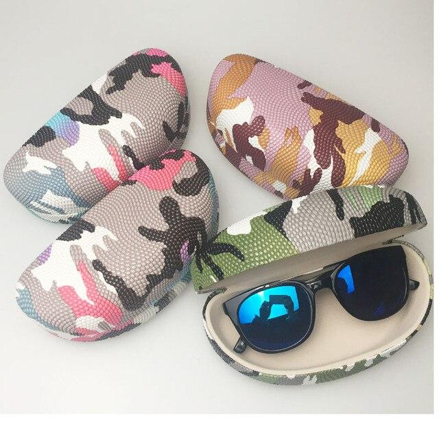 a113c2d66c Camuflaje Paisley duro caso grande para Gafas de sol mujeres Cajas de  vidrio Eyewear contenedor vintage