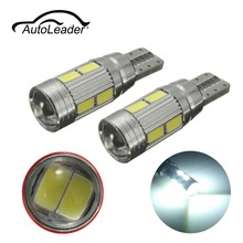 AutoLeader T10 5360 W5W Car Super Bright Width Light LED 10SMD Error Free Canbus Side Lamp Car Led Light For Luxury European Car