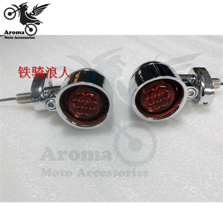 motorcycle flashers motorbike part motocross ATV Off-road moto dirt pit bike indicator red lighting for harley turn signal light