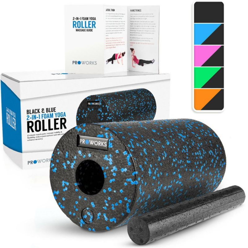Amiable Hot 2in1 Set Epp Hollow Yoga Column Foam Roller For Muscles Feet Extra Firm High Density Self Myofascial Release Massage Back