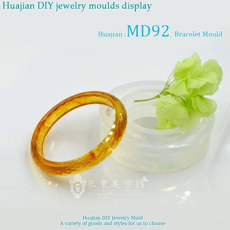 57/59/61/63mm Inner Diameter Transparent Silicone Round Bracelet Mould For Resin Real Flower DIY Mold Bangle Mould MD92