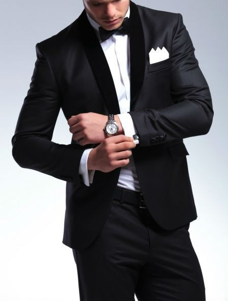 Elegant Groom's Wear Black Smoking Dinner jacket/Wedding Suits For Men/Best man's 3 Peices Suits(Jacket+Pants+Bowtie)CM-8803