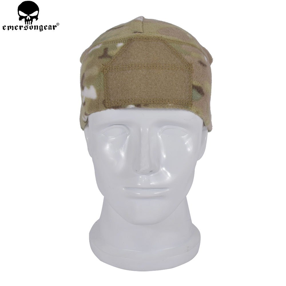 Fleece Watch Cap Warm Stretchable Comba Hat Tactical Accessory Head Wear Multicam Black Foliage Green EM8542