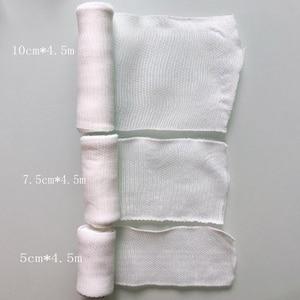 Image 5 - 1Roll  10cmx4.5m Elastic Bandage First Aid Kit Gauze roll Wound Dressing  Nursing Emergency Care Bandage