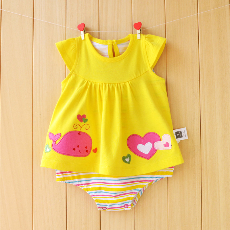 Baby Girl Rompers Cute Cotton Summer Jumpsuits Roupas Bebes Colorful Cartoon Newborn Baby Skirt Clothes Infant Girls Clothing newborn baby girls rompers cotton padded thick winter clothing set cartoon bear infant climb hooded clothes babies boy jumpsuits