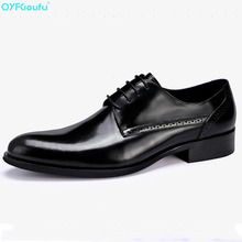 Famous Luxury Brand Shoes Genuine Leather Business Shoes High Quality Cow Leather Designer Lace-up Men Dress Shoes new brand designer leather shoes lace up famous shoes big eyes embellished patchwork shoes wholesale drop shipping