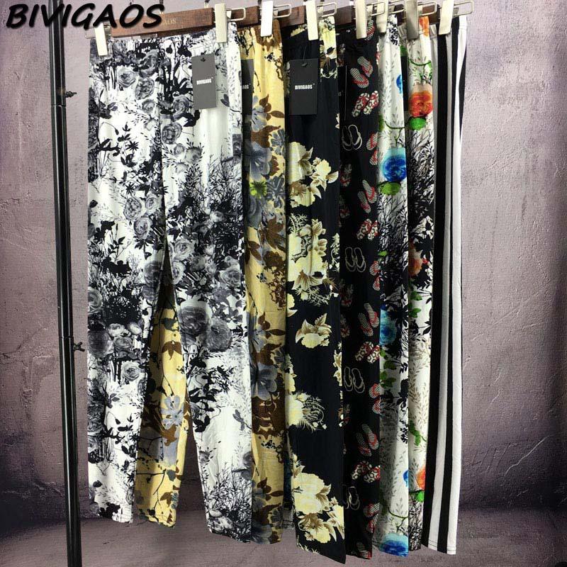 BIVIGAOS Spring Summer Womens Fashion Black Milk Thin Stretch leggings Colored Stars Graffiti Slim Skinny Leggings Pants Female 88