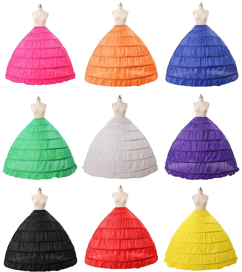 Multi Color Ball Gown Petticoat Woman Rainbow Under Skirt Wear Vestido Branco Crinoline Purple Red Blue Big Petticoat 2019