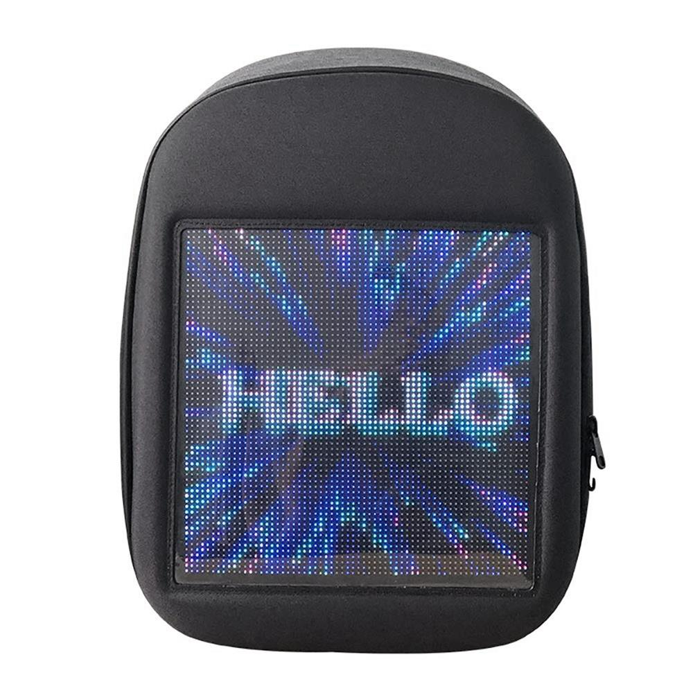 Luggage & Bags Men's Bags Ljl-novel Smart Led Backpack Cool Black Customizable Laptop Backpack Innovative Christmas Gift School Bag