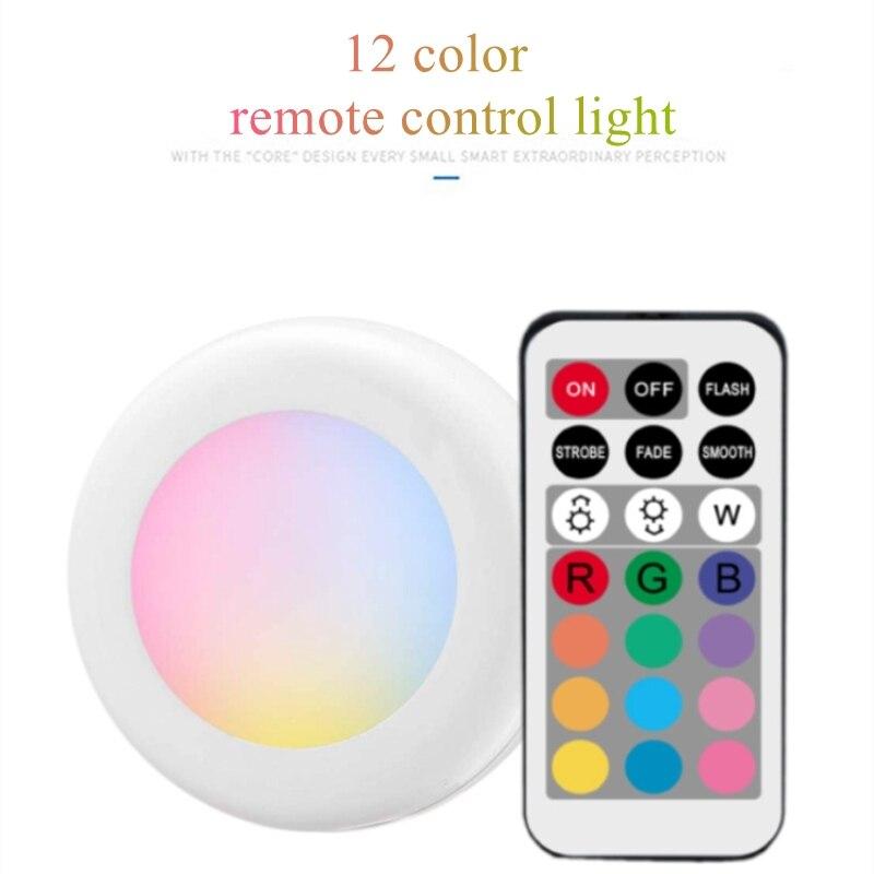 BTgeuse Night Lights Wireless Ceiling Lamp with Remote RGB Mood Light Led Bathroom Light Cordless Hallway Lighting Dimmable