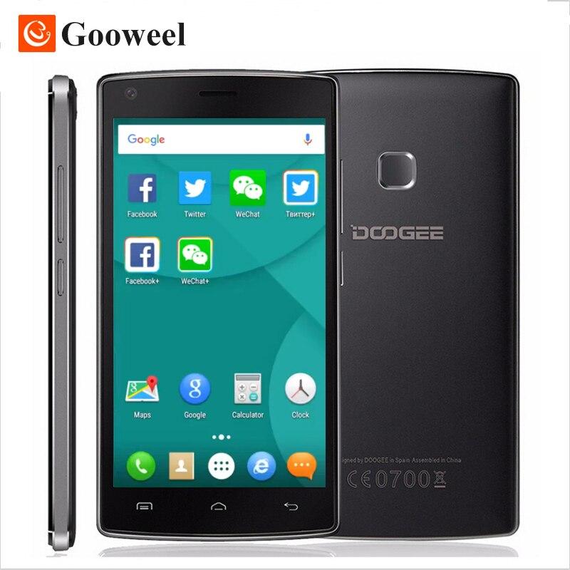 Цена за Original Doogee X5 MAX PRO 5.0 дюймов HD Смартфон MTK6737 Quad Core 2 ГБ RAM + 16 ГБ ROM Сотовый Телефон 4000 мАч Мобильного Телефона Отпечатков Пальцев