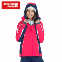 RUNNING RIVER Brand Women Warm Ski Jacket Size S 3XL Women Winter Jackets Snow Ski Jackets Outdoor Sports Clothing #J3104