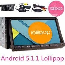 Double 2Din Android 5.1.1 Lollipop 7″ Universal Car autoRadio Quad Core Car Head Unit 1024*600 HD Car GPS Navigation+Rear Camera