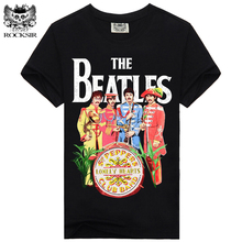 Rocksir THE BEATLES LONELY HEARTS New Design t shirt men 100% Cotton T-shirt Men Casual men's T shirts Men Brand Clothing #348