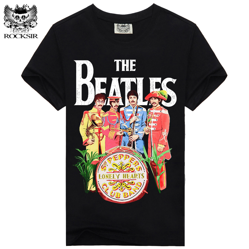 Rocksir THE BEATLES LONELY HEARTS New Design T Shirt Men 100 Cotton T Shirt Men Casual