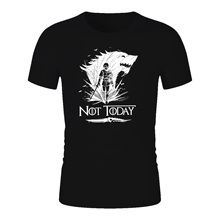 NOT TODAY Game Of Thrones T Shirt Man Brand Top Tees camiseta masculina shirt homme Mother Dragons dracarys tshirt