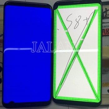 Точечный ЖК экран с рамкой для SM S8 plus G955, ЖК сенсорный экран, хорошо работает с черной точкой, ремонт стекла мобильного телефона intall