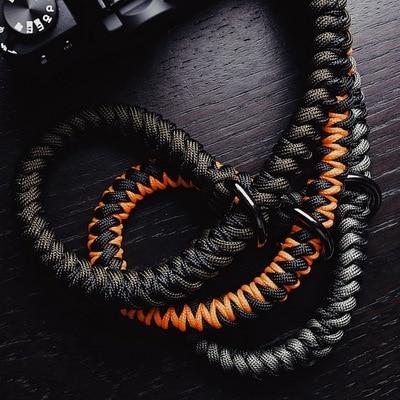 Handmade nylon Digital Camera Wrist Hand Strap Grip Paracord Braided Wristband for Fuji X T20 T30