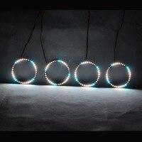 RGBW Angel Eyes Quay Vòng Lights DRL LED Cán Ánh Sáng Đa Màu Điều Khiển Không Dây RF Đối Với 2005 Toyota Celica