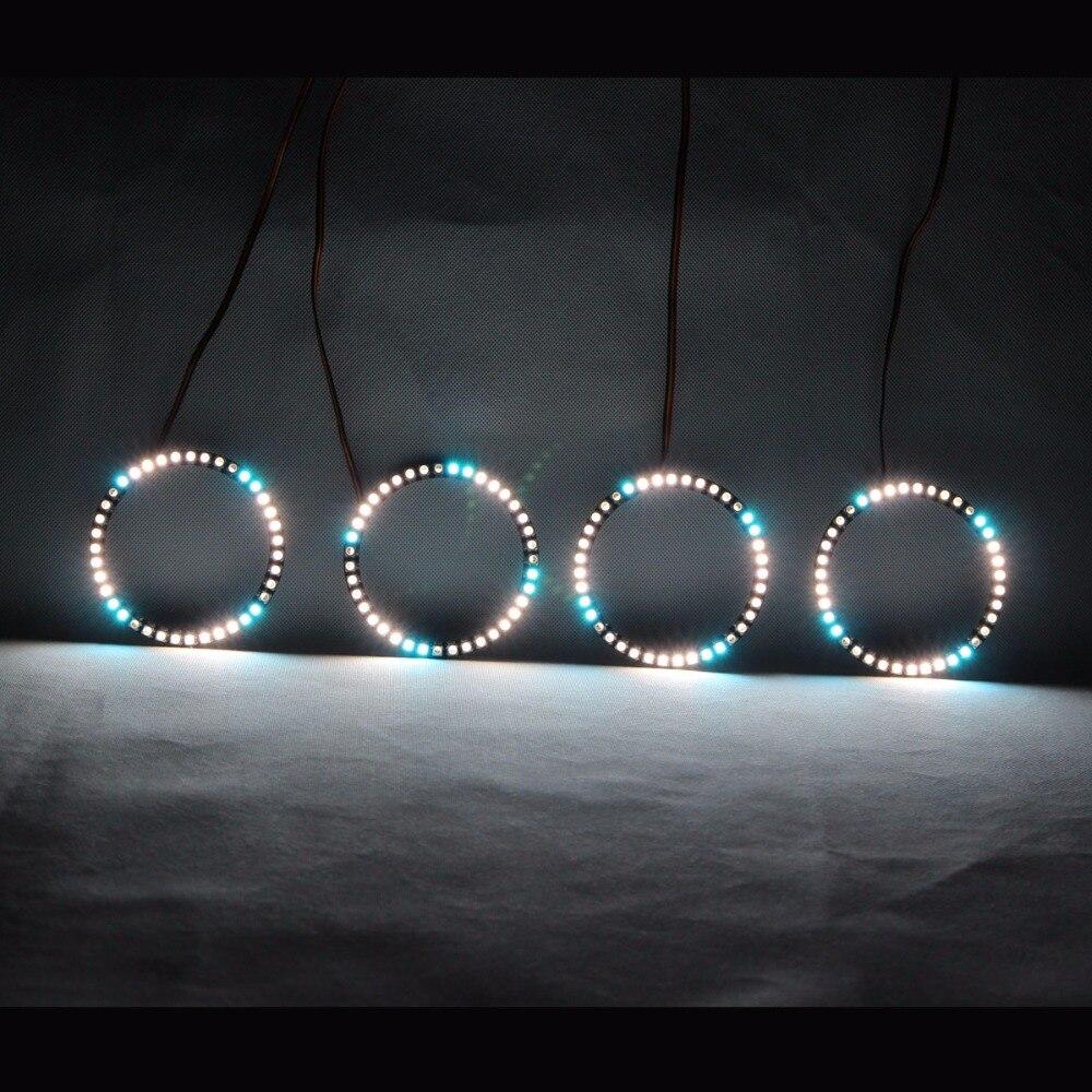 СИД глаза Ангела револьверный DRL фары СИД свет Завальцовки Multi-Цвет Беспроволочным управлением RF на 2005 Тойота Селика
