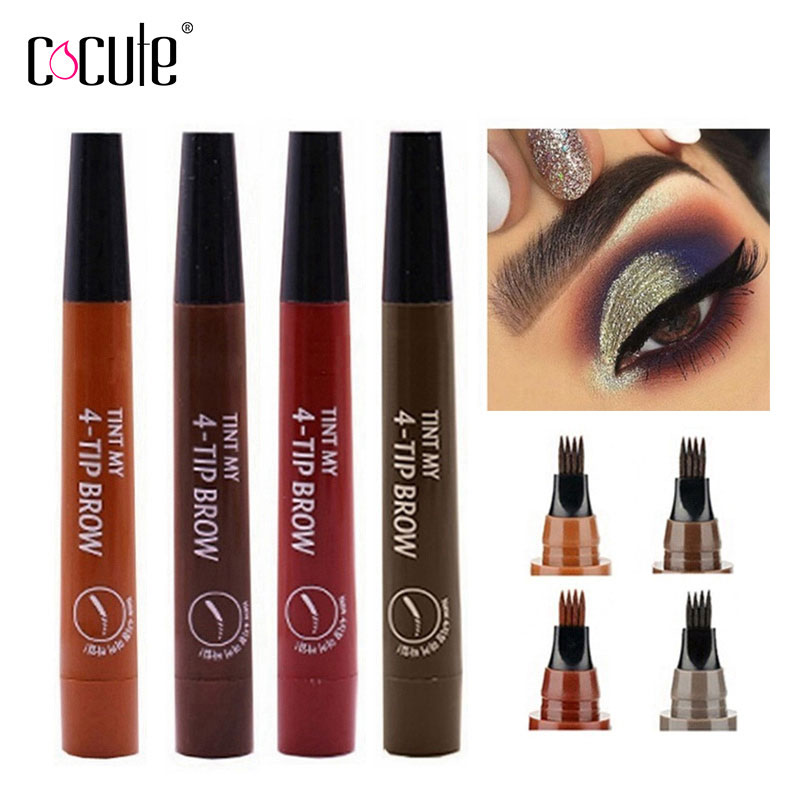 Microblading <font><b>Eyebrow</b></font> Pencil Fork Tip Liquid <font><b>Eyebrow</b></font> <font><b>Tatoo</b></font> <font><b>Pen</b></font> 5Colors Waterproof Long Lasting Eye Brow Makeup cosmetics <font><b>Eyebrows</b></font> image