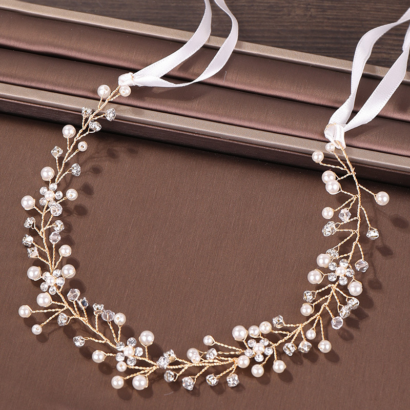 Women Crowns Jewelry-Accessories Bridal Headpiece Headband-Hair Crystal Pearls Wedding