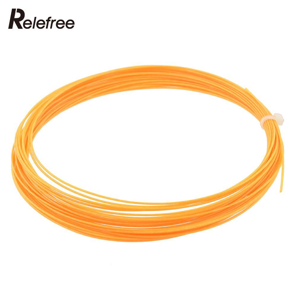 Relefree Badminton Racket String Replacement 0.75mm Gauge 10M 32.8Ft Stamina Multicolor Colorful Useful