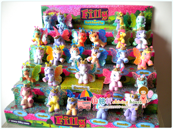 filly butterfly series filly with gold powder horse 26pcs set simba