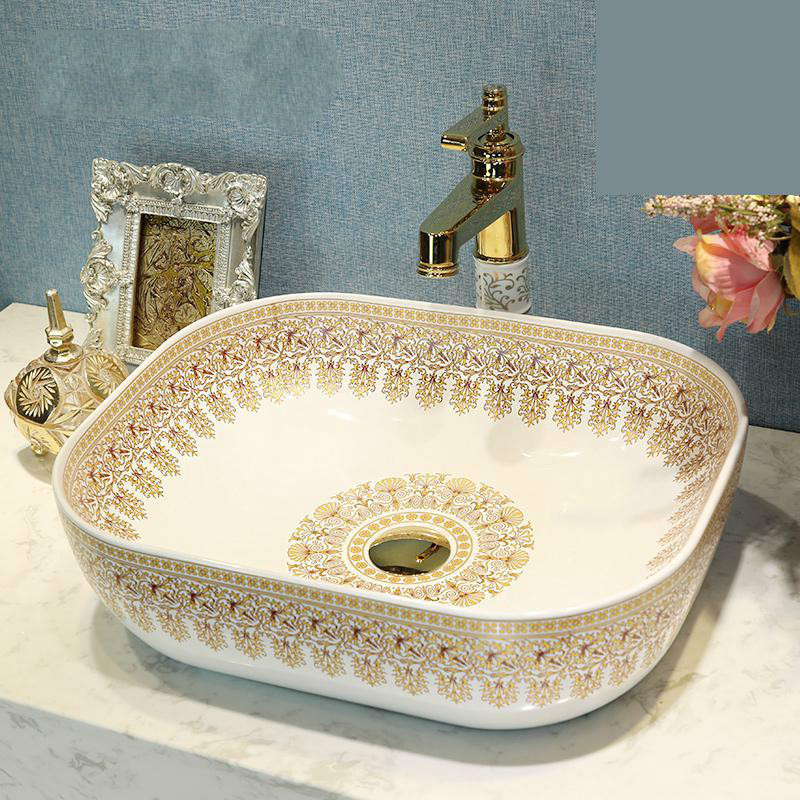 Jingdezhen Ceramics Countertop Washbasins Simple Fashion European Art Wash  Basin Bathroom Sinks Decorative Sinks Bowl In Bathroom Sinks From Home ...