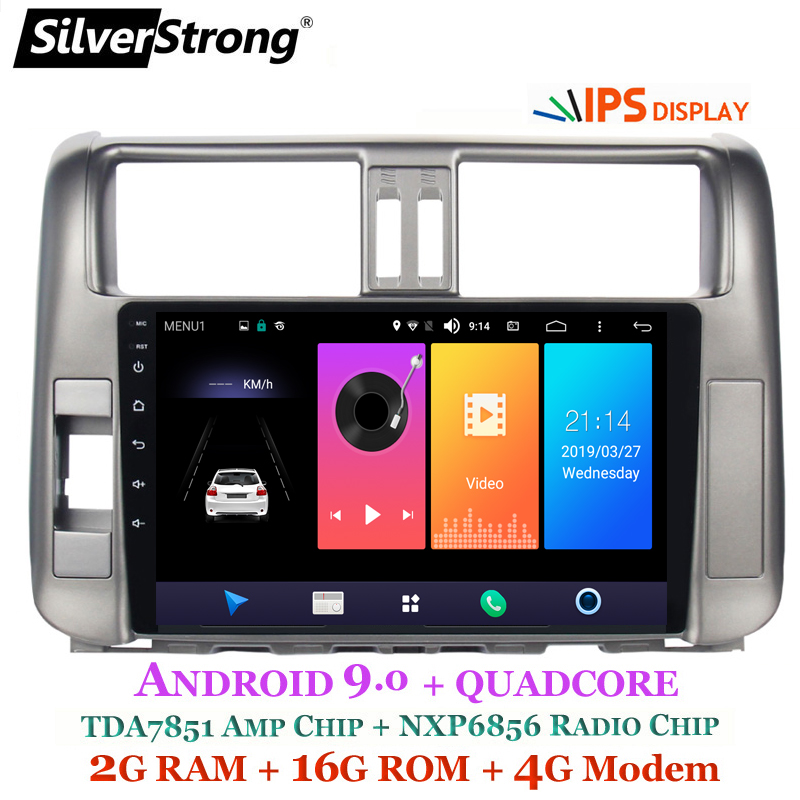 SilverStrong IPS 9inch Android9 0 4G modem Car DVD for Toyota Prado 150 LC150 GPS 2010