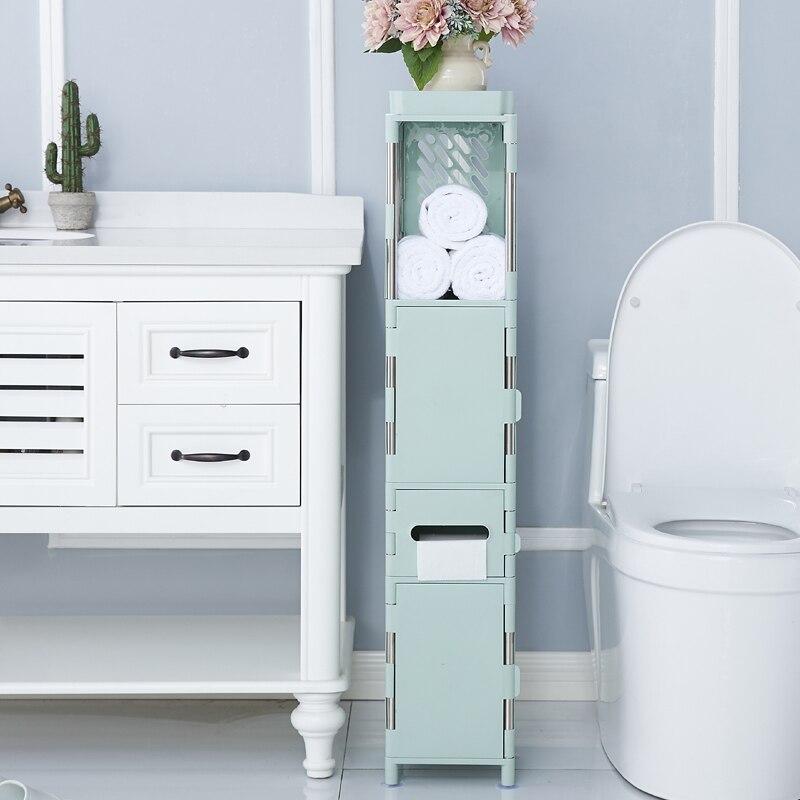 Storage Cabinet Shelf Bathroom Toilet