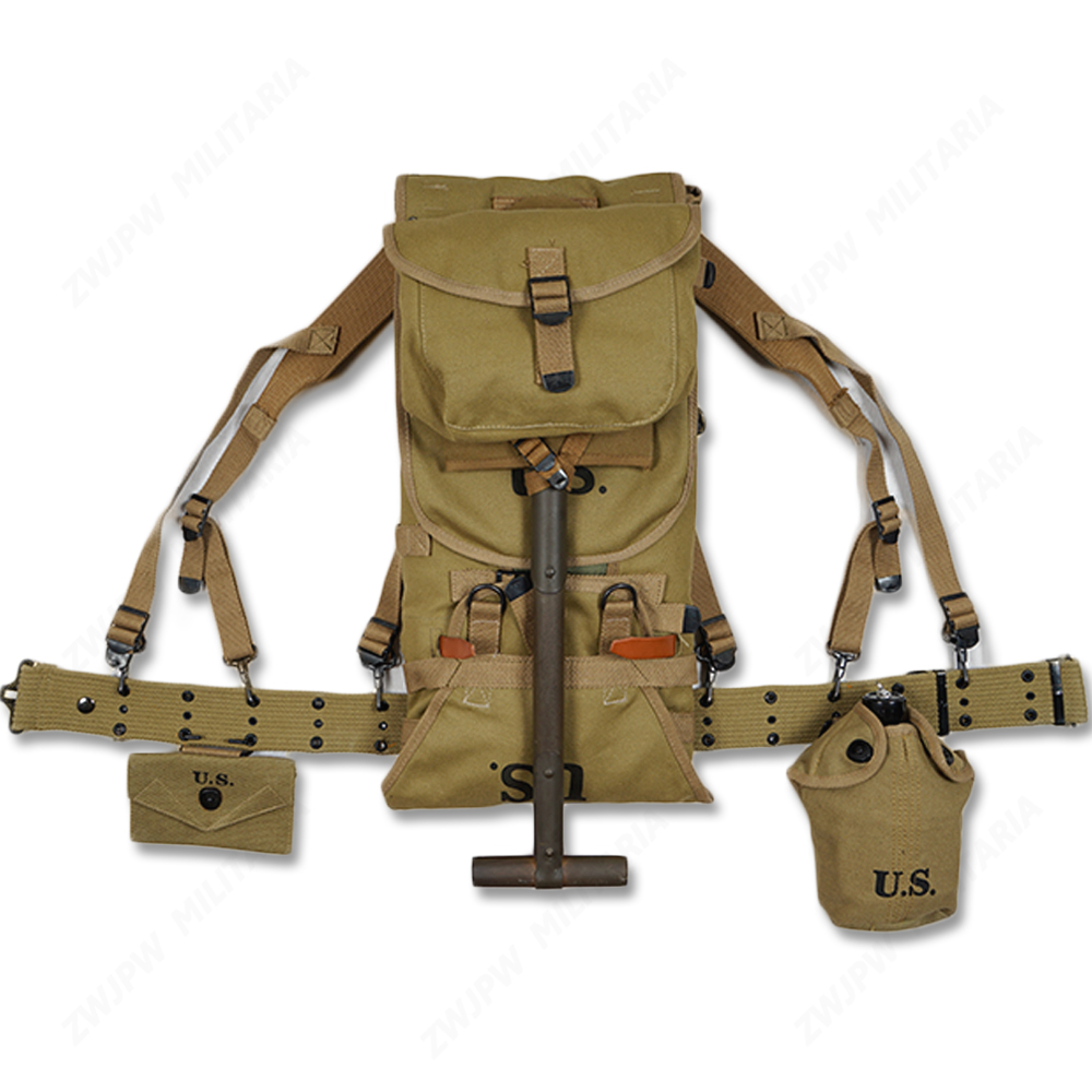 Flight Tracker Ww2 Us Army Equipment M1928 Bag Belt First Aid Kit And 0.8l Kettle X Climbing Bags Type Straps Spade