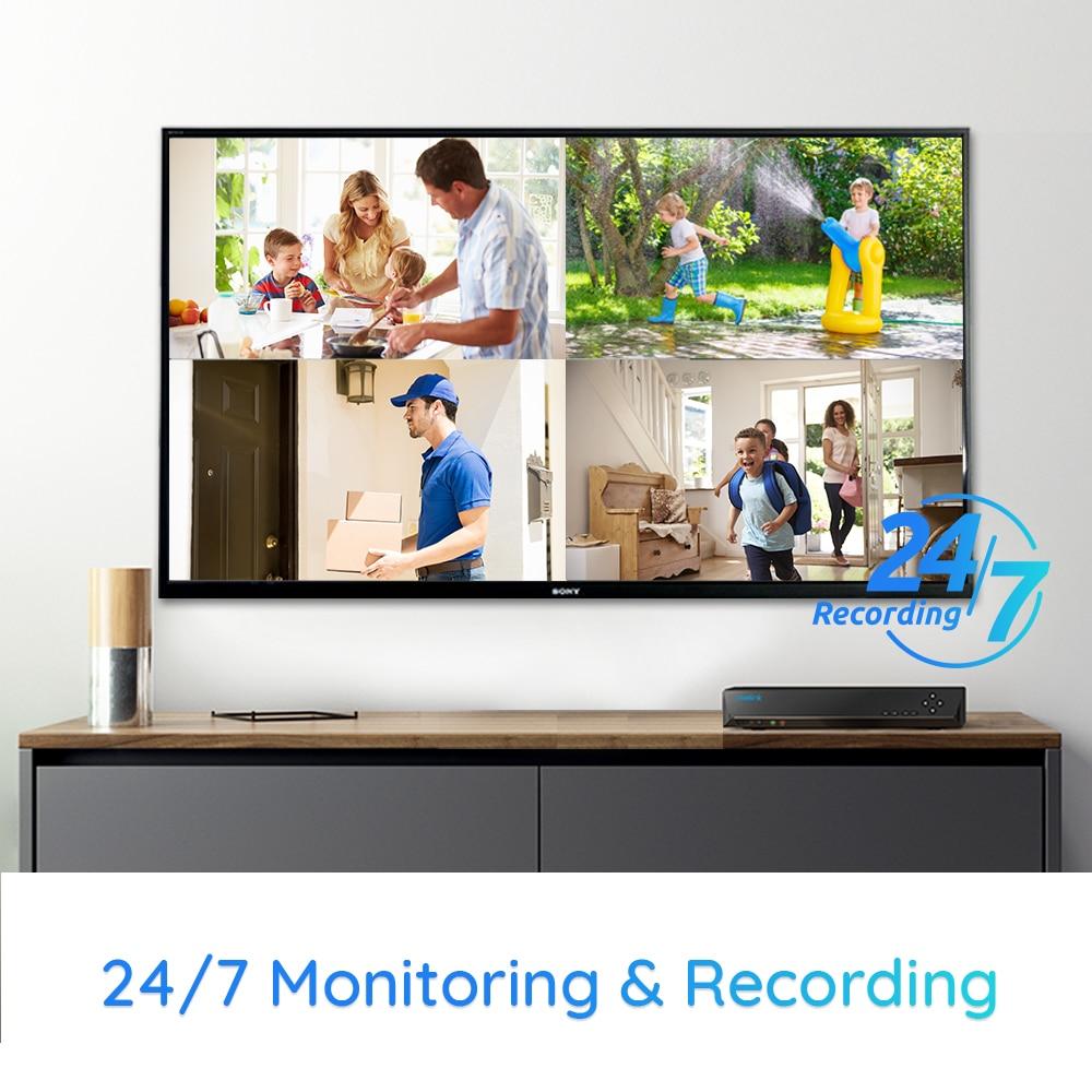 Reolink – caméra de sécurité extérieure, Kit NVR 4K 8ch 8MP plus 8ch 4K NVR 2TB HDD, IP66 RLK8-800B4 4