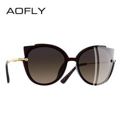 AOFLY BRAND DESIGN Fashion Lady Polarized Sunglasses Women Unique Frame Cat Eye Sun Glasses Gafas UV400 A106