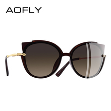 AOFLY BRAND DESIGN Fashion Lady Polarized Sunglasses Women Unique Frame