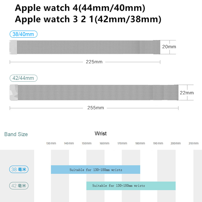 EIMO Milanese Loop strap For Apple Watch band correa apple watch 4 5 band 44mm iWatch 3 42mm 38mm 40mm milanese Metal Bracelet in Watchbands from Watches