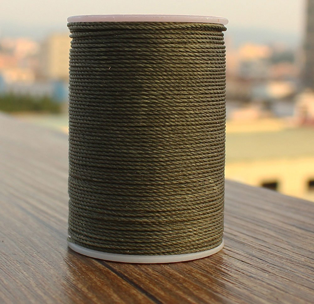 Pasión junetree 0.55mm redondo encerado nylon Cordones cuerdas Hilos para DIY Craft Cuero DIY Amy verde