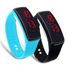 ba212b219f0 Touch Screen LED Digital Watch Homens Mulheres casuais Ultra Fina Pulseira  Esportes Silicone Relógios Unisex Relógio de Pulso Re... R  10 ...