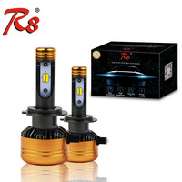 R8 Araba Tricolor 3 Renk LED Far Z5 H1 H4 H7 H11 HB3 HB4 50 W 5800LM 3000 K 4300 K 6000 K Sarı Beyaz Çift Iki Renk LED ampuller