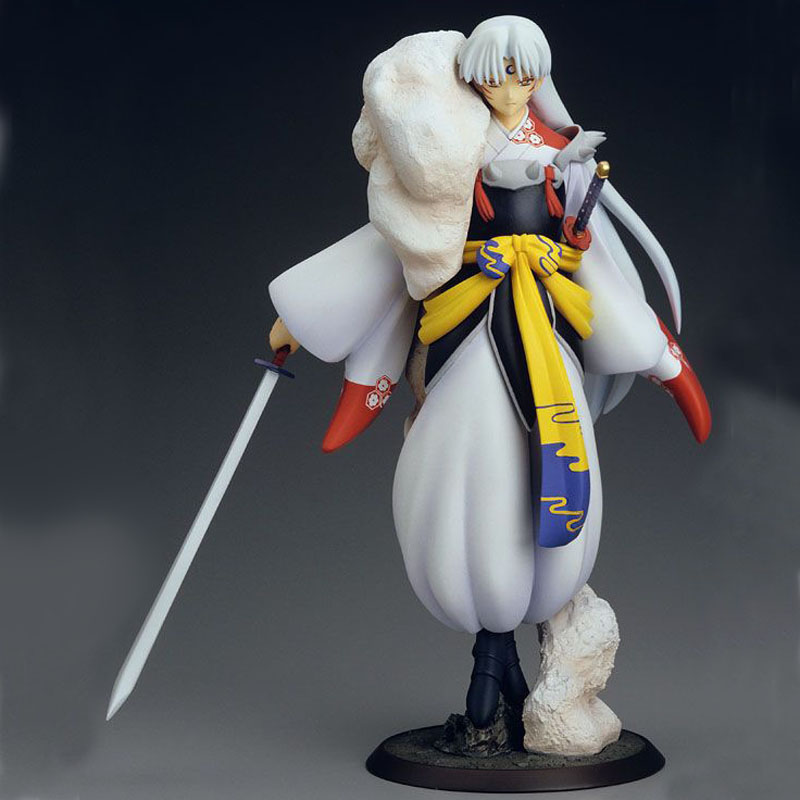 Free Shipping 9 Inuyasha Anime Sesshoumaru Boxed 23cm PVC Action Figure Collection Model Doll Toys Gift free shipping 7 anime super sonico with macaroon tower boxed 17cm pvc action figure collection model doll toy gift
