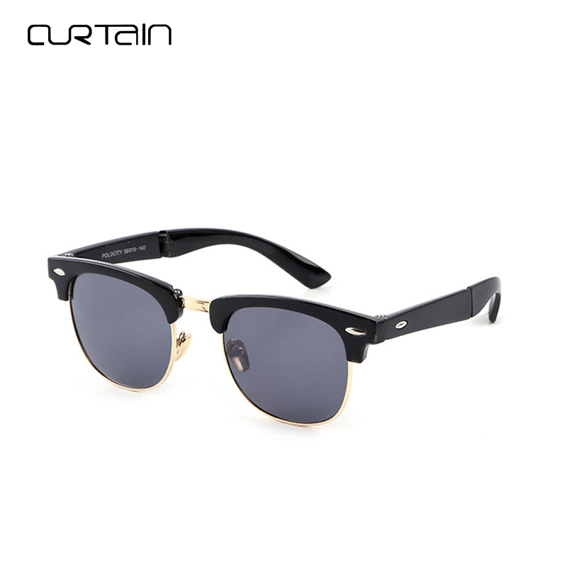 Curtain Fashion Retro Men Cool Classic Driving Metal Frame Glasses New Foldable Vintage Trendy Tasteful Women Sunglasses Y3016
