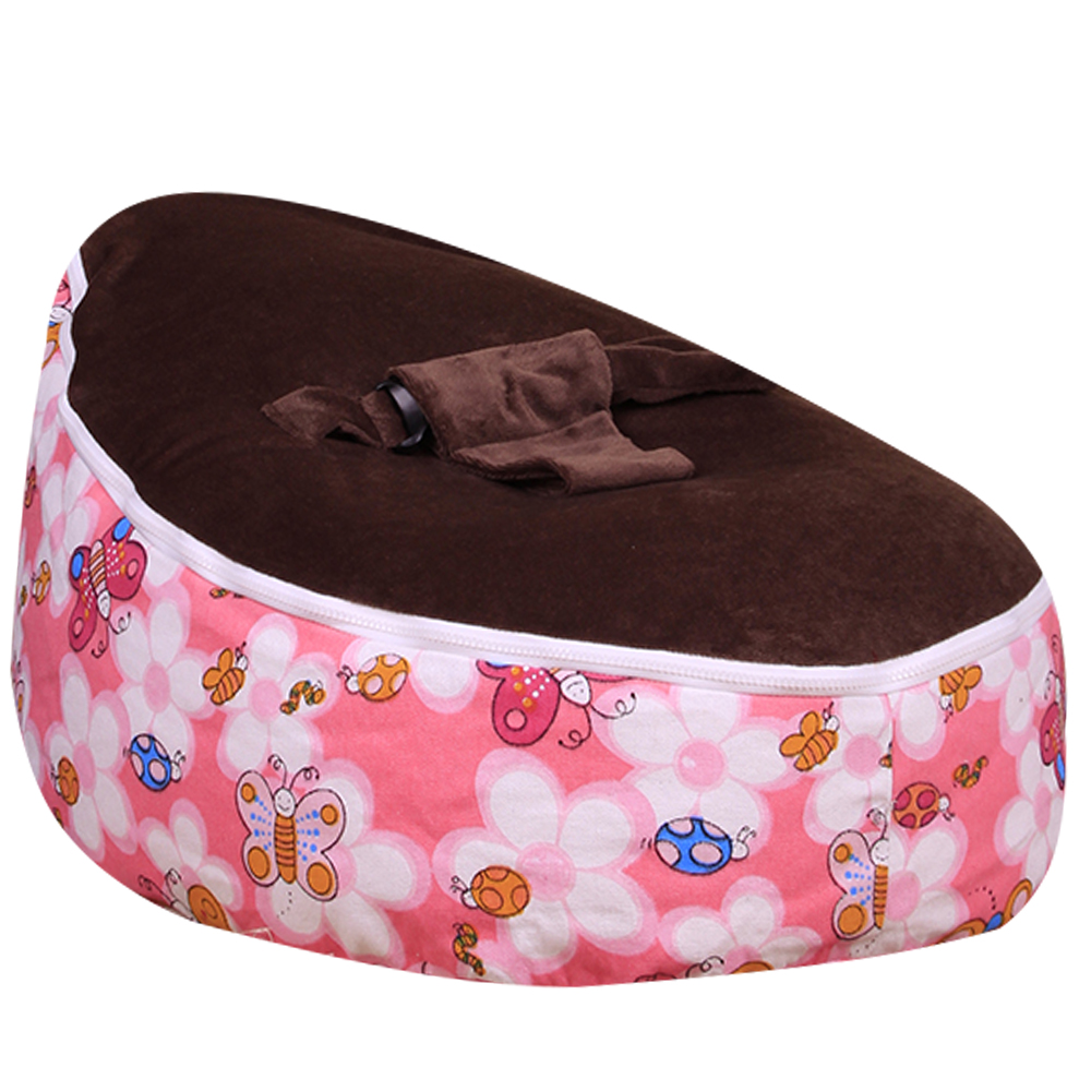 Levmoon Medium Honeybee Beanbags Bean Bag Chair Kids Bed For Sleeping Portable Folding Child Seat Sofa Zac Without The Filler