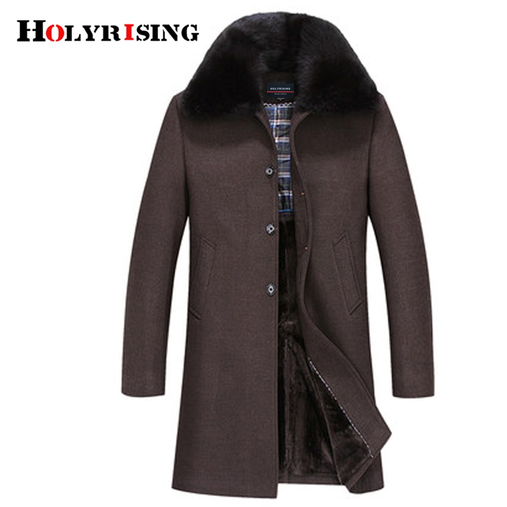Vestes d'hiver hommes épaissir manteau de laine long outwear mâle chaud pardessus fourrure laine & mélanges hommes vêtements l 4xl #18168 holyrise-in Laine et mélanges from Vêtements homme on AliExpress - 11.11_Double 11_Singles' Day 1