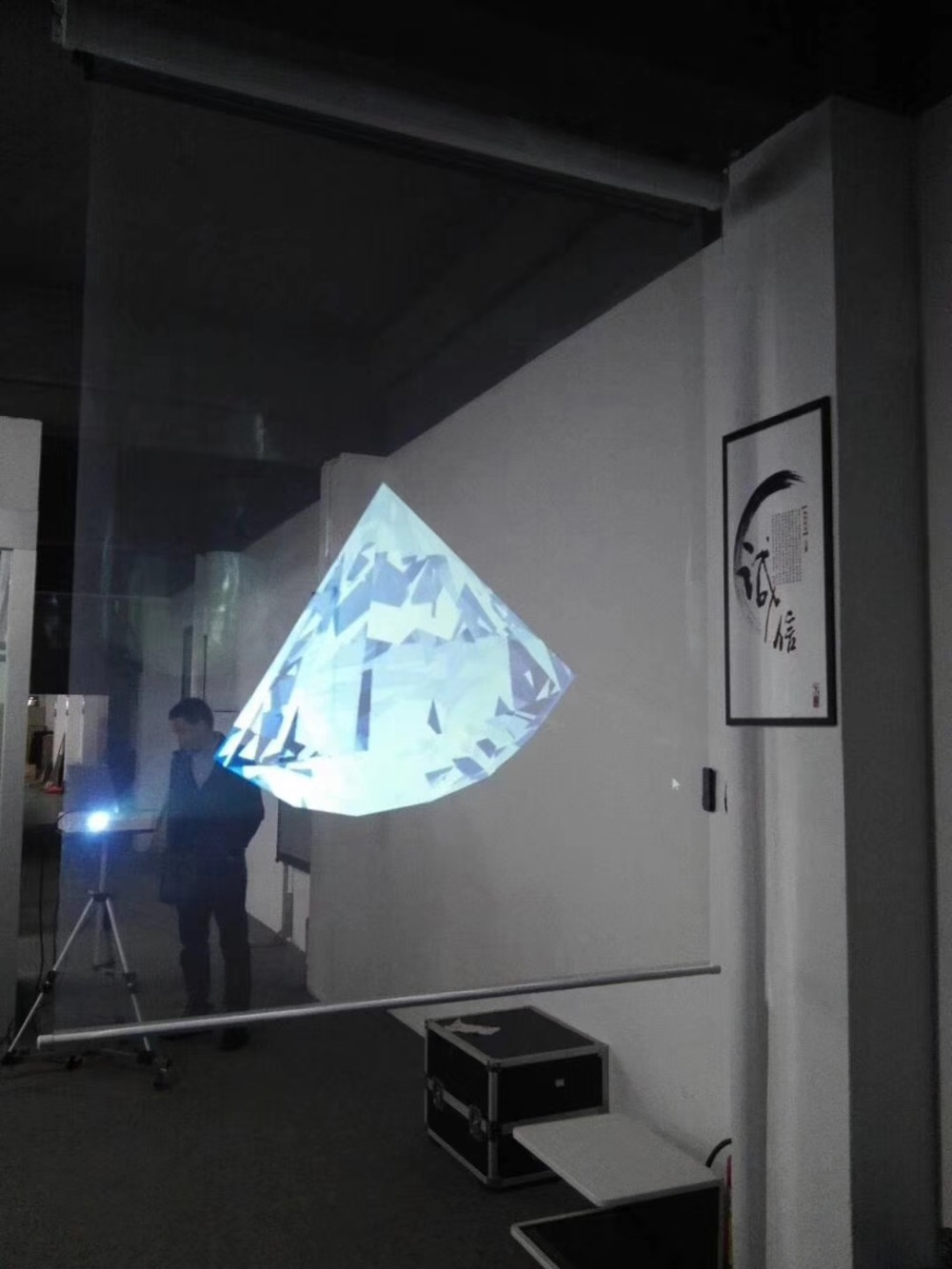 52 дюймов 16:9 прозрачная проекционная пленка для торговых окон