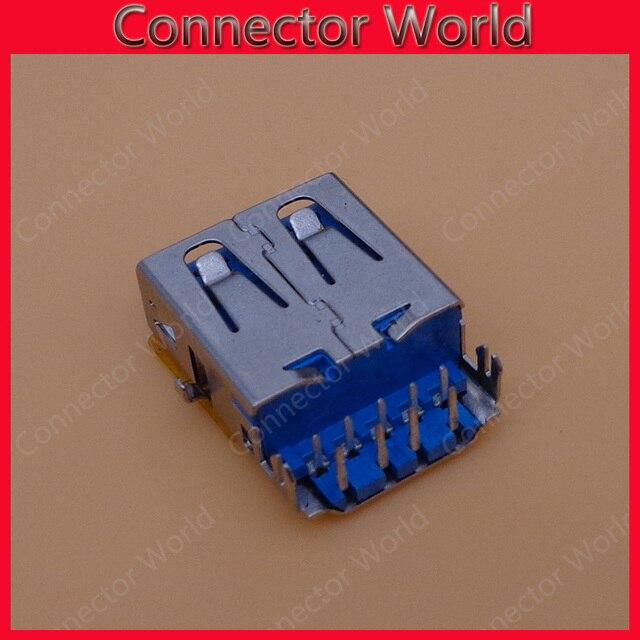 10-100 stks/partij vrouwelijke usb3.0 jack connectors maat 16*13mm fit voor asus a555l a555ld a555 serie, toshiba satellite c840 c845 l730