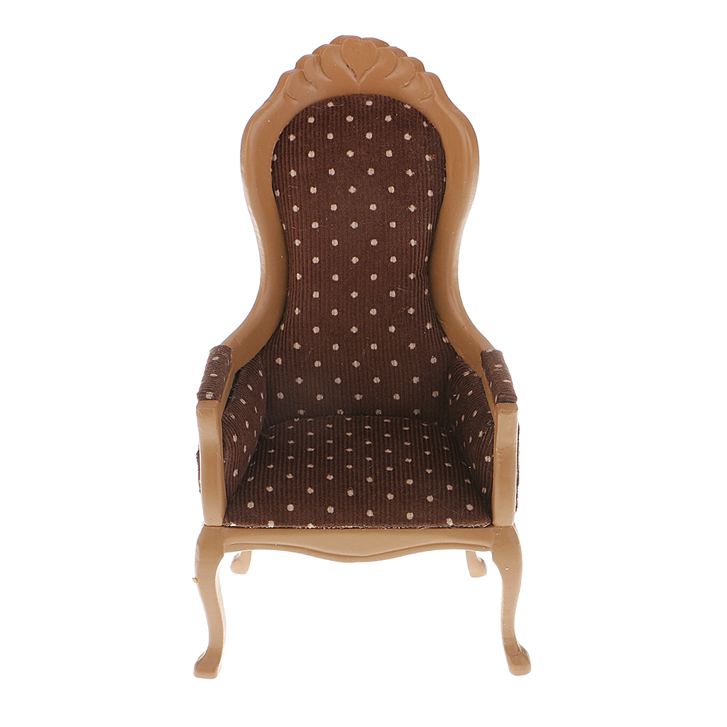 1:6 Scale Brown Wing Chair Armchair Furniture for Barbie Blythe Licca Azone Doll 12'' Action Figure Accessories 1 6 scale white end table tea table furniture for barbie blythe licca azone dolls 12 action figure accessories