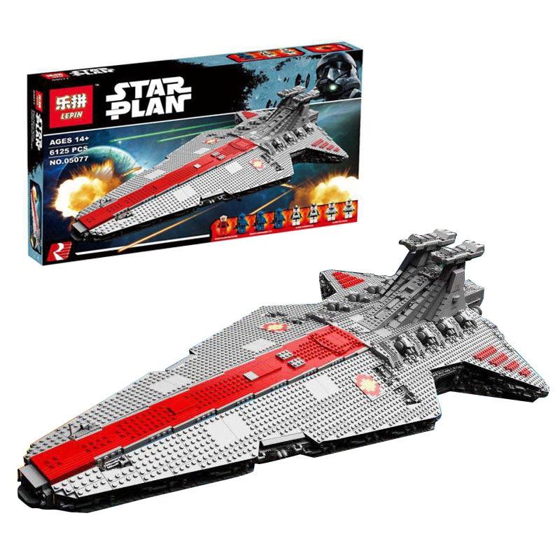 Lepin 05077 6125 Unids Regalo Serie Star La UCS Rupblic Destructor Estelar Cruis