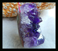 Natural Stone Faceted Drusy Amethyst Necklace Pendant Bead,35*18*23mm,18.5g semiprecious stone pendant necklace bead