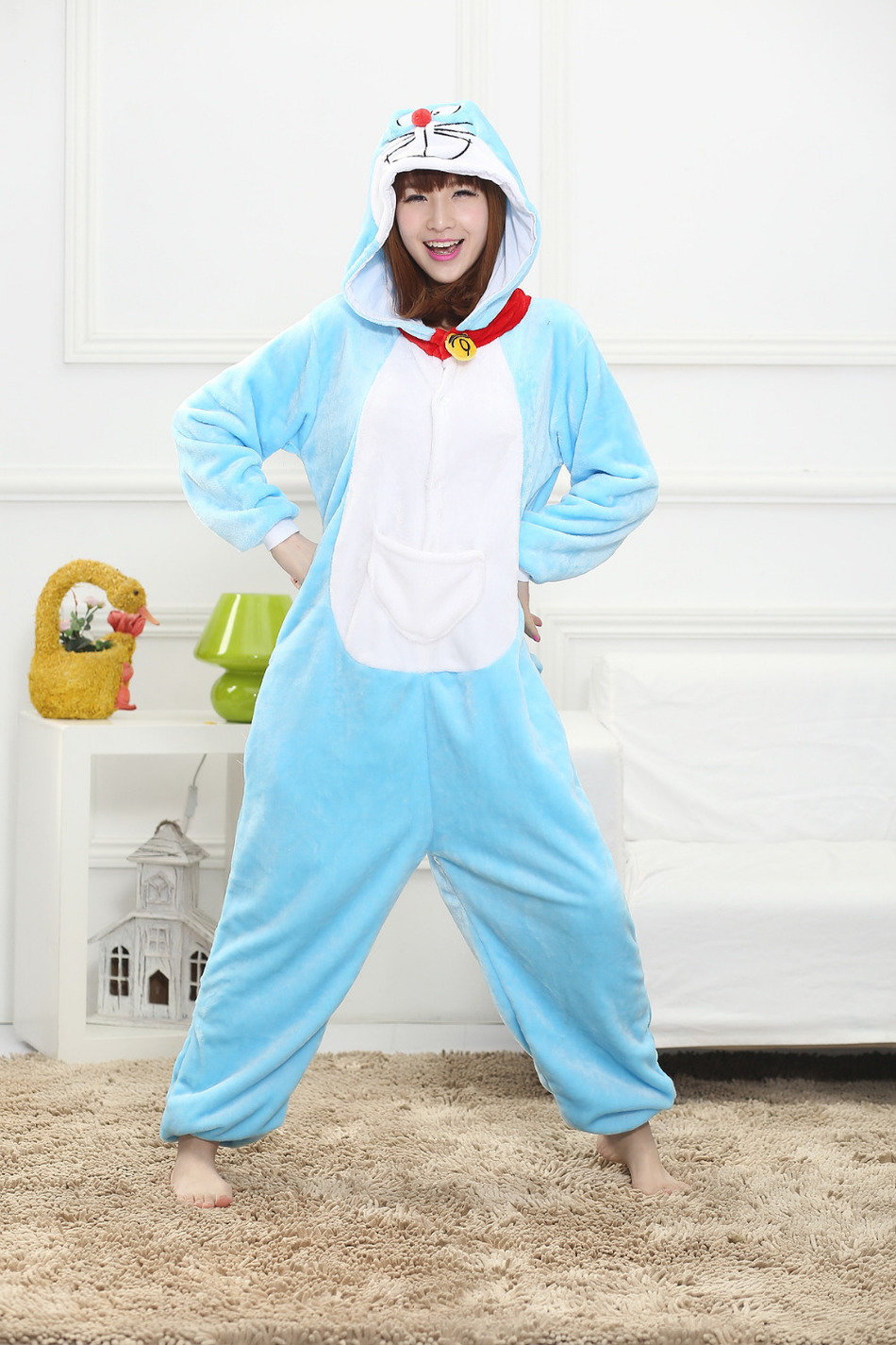 Jingle Cat Doraemon Onesies Pajamas Animal Halloween Costume Pyjamas Cartoon Sleepwear Costums animals of Unisex Kids